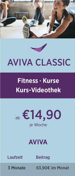 Preistabelle AVIVA Classic 08-21