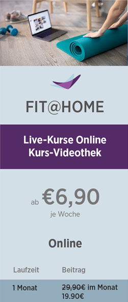 Preistabelle Fit@Home 08-21